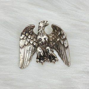 """Vintage Silver Tone Eagle Brooch 1.25"""" X 1.5"""""""